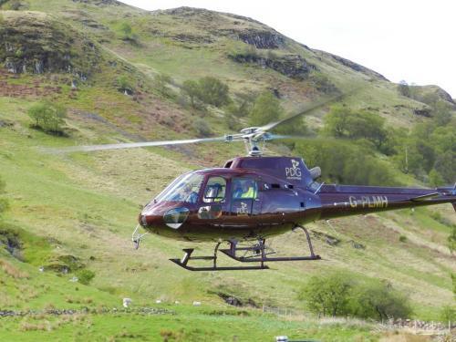 Helicopter layout in Glen Creran